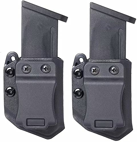 Universal 2PC 9mm/.40 Double Stack IWB/OWB Mag Carrier Magazine Holster