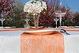 AmaCasa Vlies Tischband Tischläufer Flower Vlies Hochzeit Kommunion 23cm/25m Rolle (Orange, Vlies) - 5