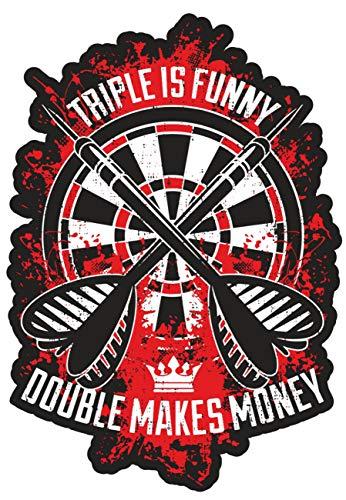 Aufkleber Dart Double Makes Money, sonstiges:kleine Aufkleber