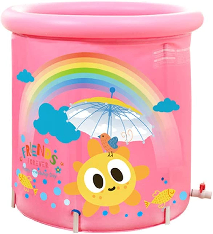 QQB Bad Barrel Baby Pool Nicht erforderlich aufgeblasen erweitern Falten Badewanne Dicker groe PVC Kunststoff Erwachsenen Badewanne tragbare Thermalbad Barrel Aufblasbare Badewanne