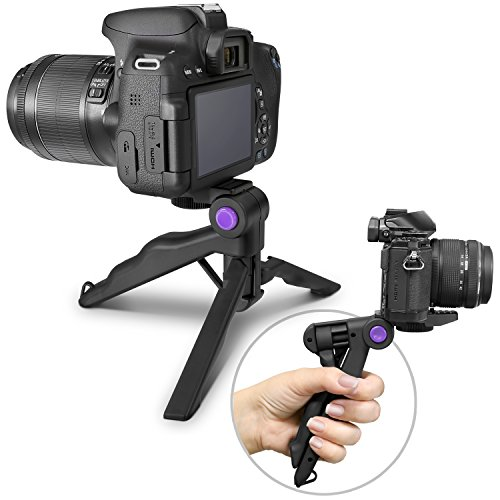 Altura Photo Mini Tripod Tabletop Stand w/Soft Pistol Grip for DSLR, Audio Recorder and Video...