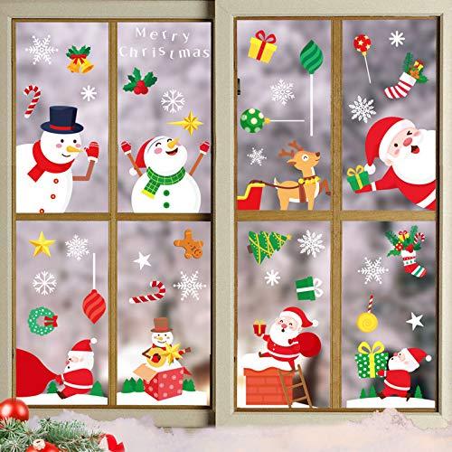 クリスマスステッカー クリスマス 飾り クリスマスデザイン 8枚入り 静電ステッカー 剥がせる 雰囲気満点