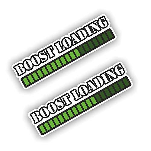 folien-zentrum 2 x Boost Loading Pegatinas Shocker Mano Auto JDM Tuning Dub Decal Stickerbomb Bombing Sticker Illest Dapper Fun Oldschool