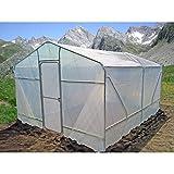 GYC Invernadero para Jardín o Huerto de 2 Secciones con Cubierta (4,05m x 3,12m x 2,2m) - Ref: 24901521