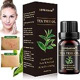 Tea Tree Oil Puro,Olio Essenziale di Albero del Tè Naturale,Olio Essenziale,Tea Tree Olio di Acne,Anti Acne e Brufoli Trattamento per Pelli Impure, per Aromaterapia Diffusore