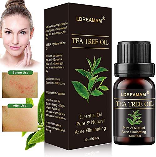Aceite esencial de árbol de té,tee tree oil,ceites de aceites esenciales,Aromaterapia Aceite Aromático,para Humidificador y Difusor Aroma,para cara y Cuerpo masaje