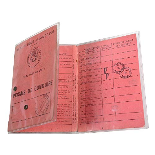 Exacompta 5394E Paquet de 10 Etuis 3 volets pour ancien permis de conduire format en polypro 8,8 x 12,5 cm Cristal