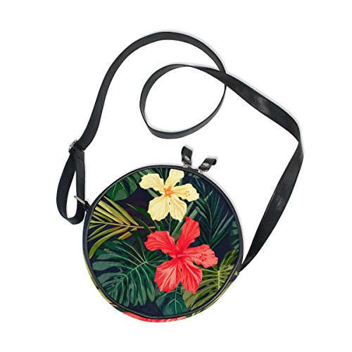 Ahomy Umhängetasche Watercolo tropische Hawaii Blumen Monstera Palm Leaf Trendy Kinder Mädchen Handtasche