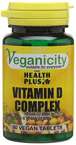 Veganicity Vitamin D Complex 1600iu (40µg) : Vitamin D Supplement : 90 Vegan Tablets