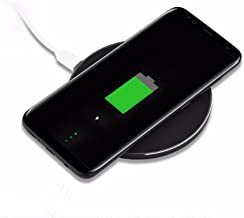 GY-68 Wireless Fast Charge Ultra-Thin Aluminum Alloy Wireless Charger for Iphone8/X(Black)