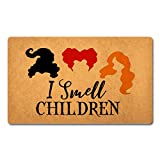 FXGZHAO Welcome Mat with Rubber Back (18 x 30) inchI Smell Children Hocus Pocus Door Mat Funny Doormat for Entrance Way Home Decor Mats for Front Door Mat No Slip Kitchen Rugs and Mats