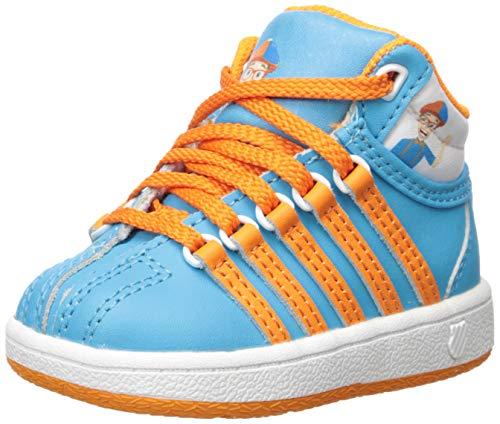K-Swiss Unisex-Baby Classic VN Mid Sneaker, Unexpected Blue/Blippi, 2 M US Infant