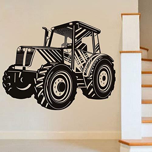 Conducir Tractor Transporte Etiqueta de la pared Coche Calcomanía de pared hueca Vinilo autoadhesivo Decoración para el hogar