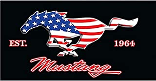 Special America Flag Mustang Metal Sign 1964 Mustang Metal Poster for Wall/Ding Room/Mancave/Lobby Wall Decor 30 15cm Cool Wall Plaque