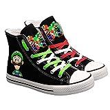 ERLIZHINIAN Lindo Super Mario Impreso Las Zapatillas de Deporte de Las Mujeres de los Hombres Zapatos de Lona de la Historieta de los Zapatos Ocasionales Muchachos y de Las Muchachas