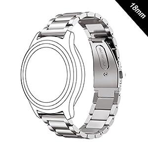 Shellong Correa de Acero Inoxidable para Reloj Huawei Watch ...