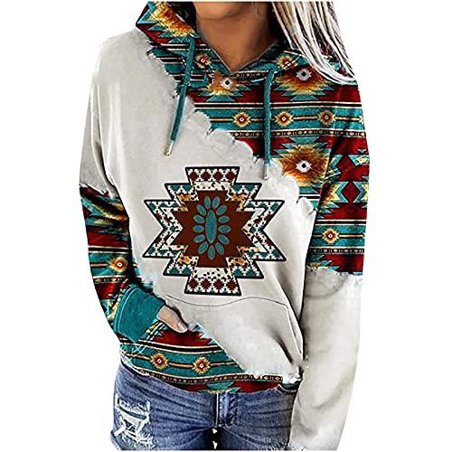 Womens Casual Ethnic Style Hooded Sweatshirt...