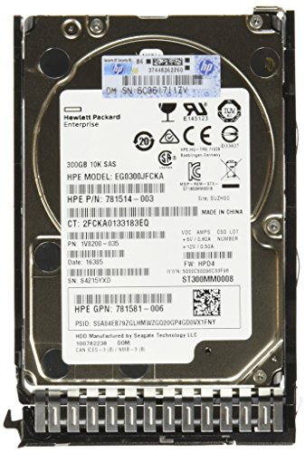 Disco Rígido HP 300GB 12G SAS 10K rpm SFF 2.5\