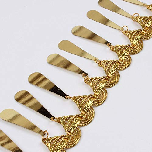 2 meter 5 cm franje kwast kant goud zilver pailletten lint latin dans bruiloft feestjurk decoratie naaien stof accessoires, goud