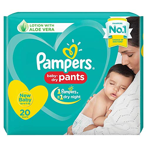 Pampers New Diaper Pants, New Born, 20 Count