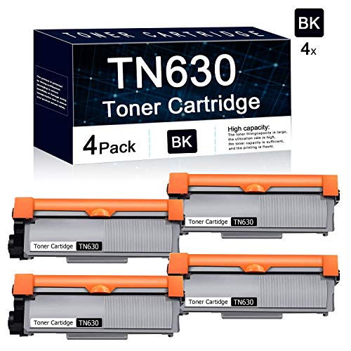 Compatible 4 Pack Black TN630 Toner Cartridge Used for Brother HL-L2300D HL-L2305W HL-L2315DW HL-L2320D;Brother MFC-L2680W MFC-L2685DW MFC-L2740DW; Brother DCP-L2520DW DCP-L2540DW Printers. -  TbToner, TN630-4PK