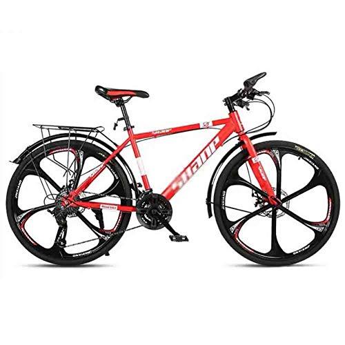 LILIS Bicicleta Montaña Carretera Bicicletas Mountain Bike MTB Adultos de la Bicicleta de Velocidad Ajustable for Hombres y Mujeres de 26 Pulgadas Ruedas Doble Freno de Disco
