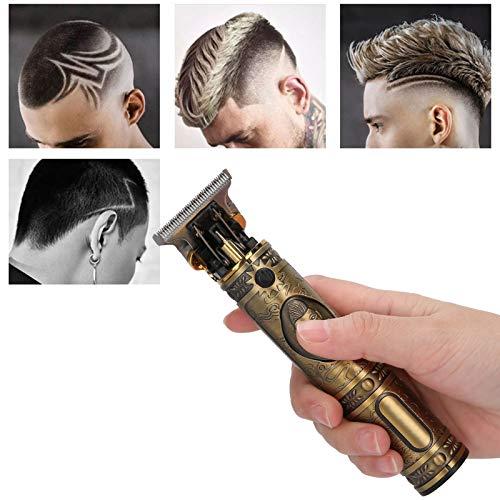 Cortadora de cabello, máquina cortadora de cabello, hoja redonda en forma de R, pequeña y portátil con alta dureza para cortar y tallar cabello con aceite