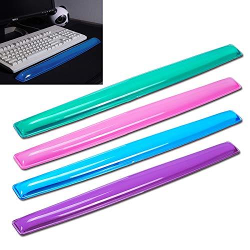 Ysswjzz Doorzichtig Siliconen Toetsenbord Muis polssteun Pad Mat, for Desktop Laptop Tablet Computer Draadloze Wired Keyboard Mouse, Non-slip-willekeurige kleur