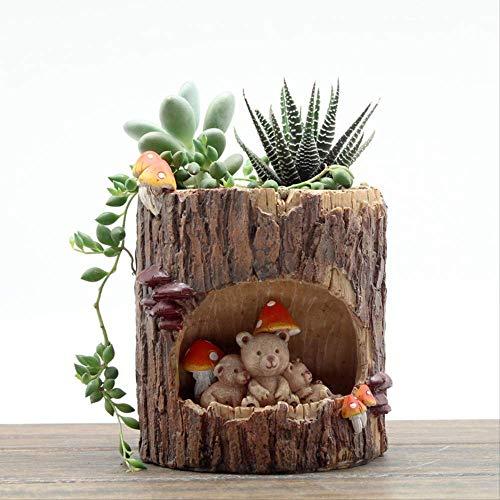 Ornament Figuur Puur Koper Europese Boom Grot Verhaal Bloempot Succulente Micro Landschap Landscaping Decoratieve Hars Craft Ornamenten