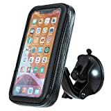 ShowerPhone by Wumas - Wall Mountable Waterproof Phone Holder Case for Shower & Bath | Rotatable & Height Adjustable with Suction Cup Adhesive | Universal Compatibility with All iPhones and Androids