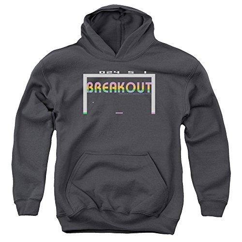 Boys Atari Breakout Hoodie, Official Design, Gray