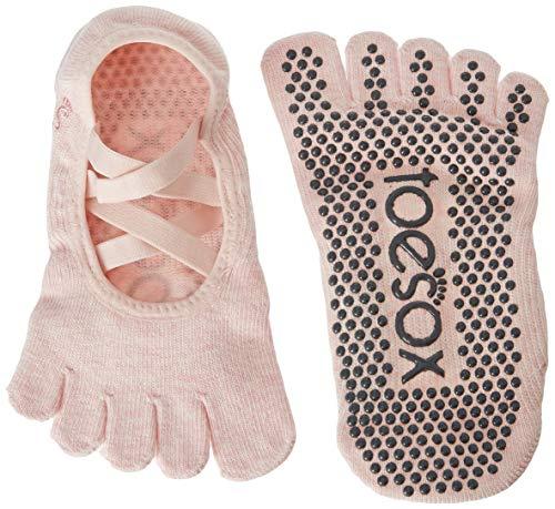 Toesox Full Toe Elle Yoga- und Pilates-Antirutschsocken, Rosa - Ballet Pink, Größe S