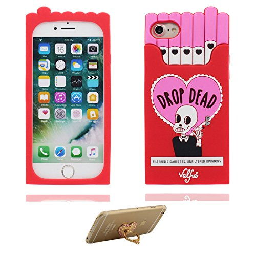 Generic Handyhülle für iPhone 6S, iPhone 6 Hülle Cover (4.7'), 3D Cigarette Box TPU Flexibles Schädel Shell Staub-Beleg-Kratzer beständig, iPhone 6 case (4.7') & Ring Ständer für Handy