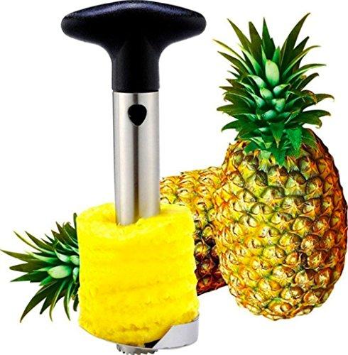 U Chef Descorazonador de piña de acero inoxidable Premium, Cortador y Extractor de piña en rebanadas, rebanador, ¡cortador de piña fácil de usar! Pineapple Slicer