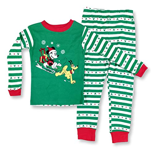Mickey Mouse Christmas Pajamas for Toddlers Mickey Pluto Dashing 2-Piece PJ Set (18 Months) Green