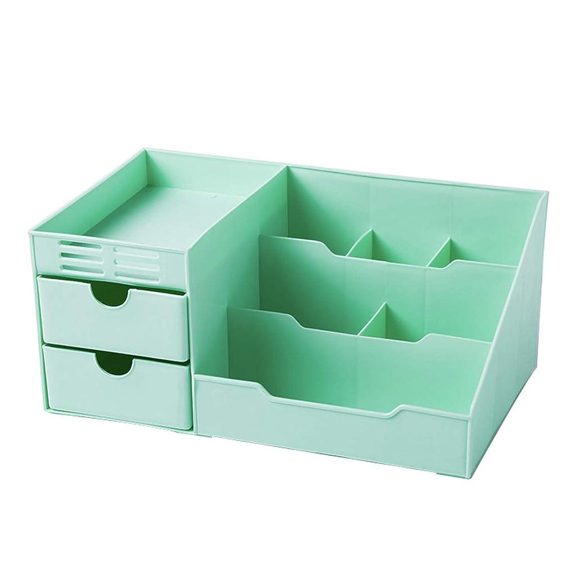 いたずら圧倒するカレンダープラスチック化粧品収納ボックスデスクトップスキンケアジュエリーストレージディスプレイキャビネット