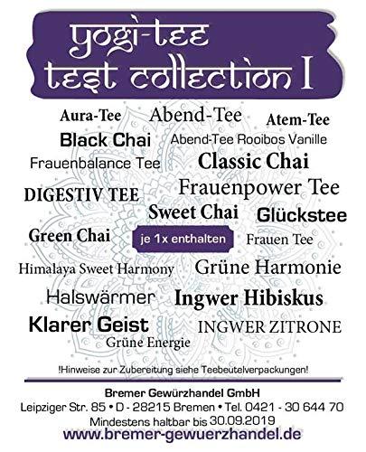 Yogi Tee, Test Collection 1, 20 leckere Sorten, 20 Teebeutel, 34g, BIO