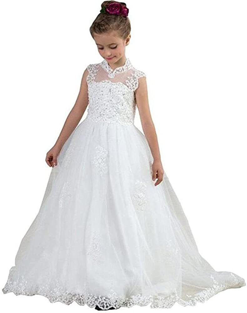 Kalos Dress Shop 2018 White Flower Firs Dresses Department store Girl Max 59% OFF Wedding for