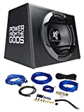 Hifonics ZS-112A 600 Watt 12' Powered Subwoofer Loaded Sub+Amplifier+Amp Kit