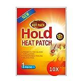 Supchamp Wärmepflaster 10 Stück, Klebend Einweg-Wärmepads für Rücken, Nacken Schultern und Bauch, Schmerzlinderung 12 Stunden Angenehme Wärme 100% Natürlich