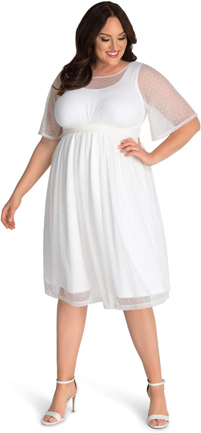 Kiyonna Women's Plus Size Stars A-line Wedding Dress