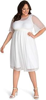 فستان زفاف Kiyonna نسائي كبير الحجم على شكل حرف A