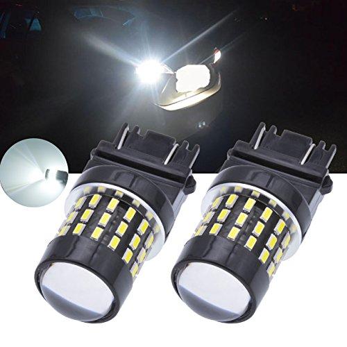 TUINCYN 650 lumens 3157 ampoule LED Blanc 6000K 3156 3047 3057 3057 A 3457 3014 54smd RV de voiture ampoule de feu stop clignotants Tail inversée Back Up lumière lampe DC 12 V-24 V 3.1 W (2-Pack)