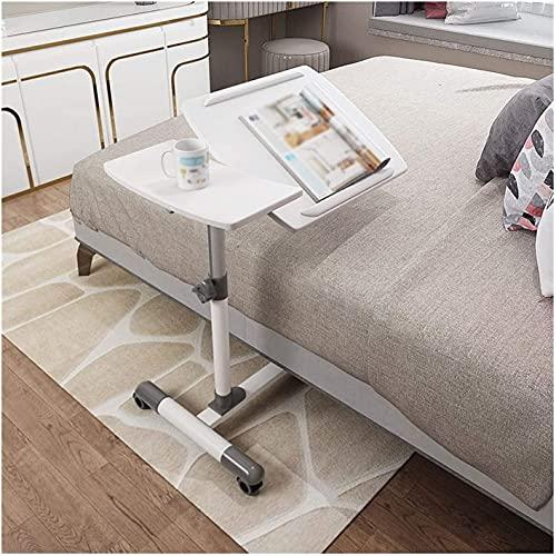 Mesa auxiliar mesas Mesas portátiles sobre cama sobre cama | Diseño de inclinación C forma de computadora portátil en forma de escritorio móvil con altura ajustable | Para trabajos, lectura, escritura