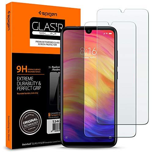 Spigen, Protector Pantalla Xiaomi Redmi Note 7 / Note 7 Pro, Compatible con Las Fundas, Transparente, Anti-Scratch, Cristal Vidrio Templado Premium para Xiaomi Redmi Note 7 (S34GL26119)
