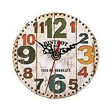 Relojes de Pared de Madera, Estilo Vintage Relojes de...