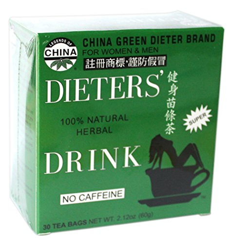Uncle Lee's China Green Dieters Tea -- Dieters' Drink For Weight Loss 30 Tea Bags …