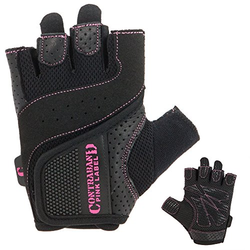 Contraband Pink Label 5137 Womens Padded Weight Lifting Gloves w/ Grip-Lock Padding (Pair) - Machine...