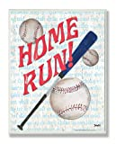 The Kids Room by Stupell Homerun Baseball Bat Typography Rectangle Wall Plaque, 11