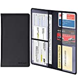 Wisdompro Car Registration and Insurance Documents Holder - Premium PU Leather Vehicle Glo...